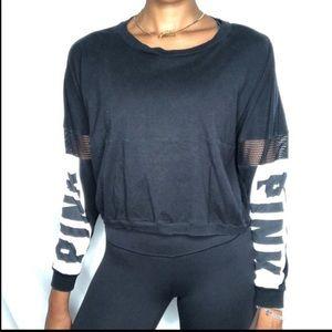 VS PINK Long-sleeve signature logo Shirt mesh S